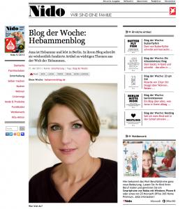 Blog der Woche auf nido.de