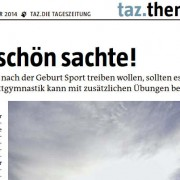 Rückbildungsgymnastik auf Taz.de