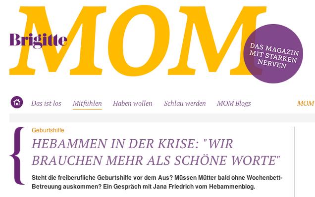 Brigitte-MOM-Interview mit Jana Friedrich