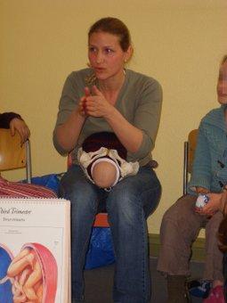 Hebammen-Unterricht mit Jana Friedrich