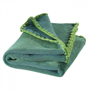 Disana Strick-Baby-Wolldecke (Melange) grün