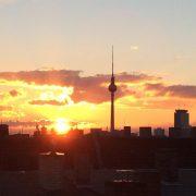 Berliner Sonnenuntergang am Fernsehturm