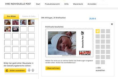 Geburtsanzeigen mit Babyporto: Gestaltung