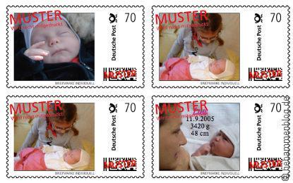 Geburtsanzeigen mit Babyporto: Musterübersicht