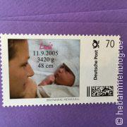 Geburtsanzeigen mit Babyporto von Post-Individuell
