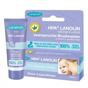 HPA Lanolin Brustwarzensalbe von Lansinoh (10 ml Tube)