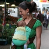 Babytrage Mei Tai von Fräulein Hübsch - Trageansicht vorn