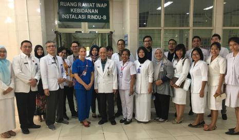 Das Krankenhaus-Team in Medan