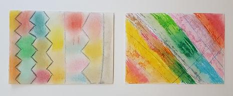 Kohle Pastellkreide und Ölkreide auf Papier